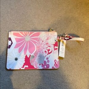 Chicos floral clutch or travel wrist bag